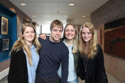 Fra venstre: Oda Pedersen Taule, Bjørn Kjetil Ildsøe, Rachel Berglund og Magdalene Eldevik Kjosar